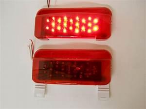 Led Rv Camper Trailer Stop Turn Brake Tail Lights    License Light    White Base