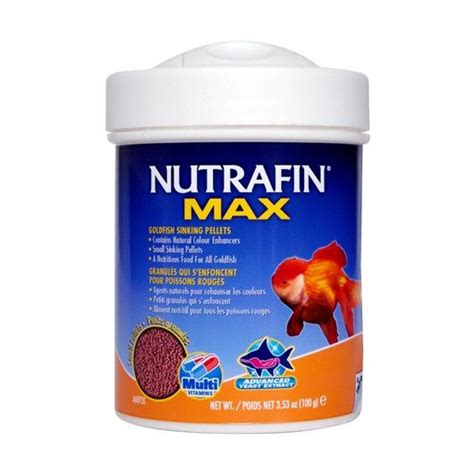 best sinking goldfish food nutrafin max small goldfish sinking pellets 100gm