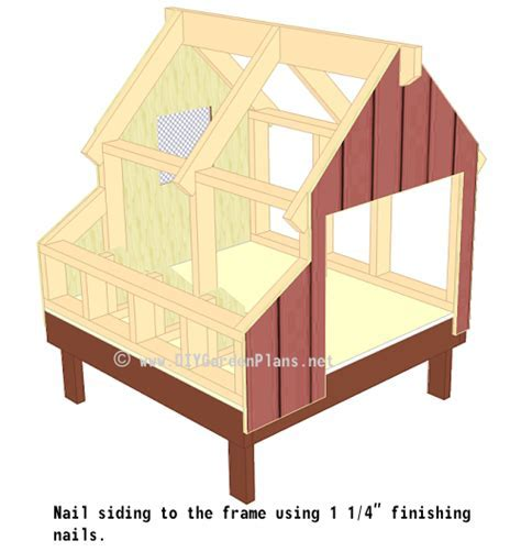 Chicken Coop Plans: Front / Back Siding