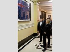 Hillary Clinton with New Zealand flag from the World Trade