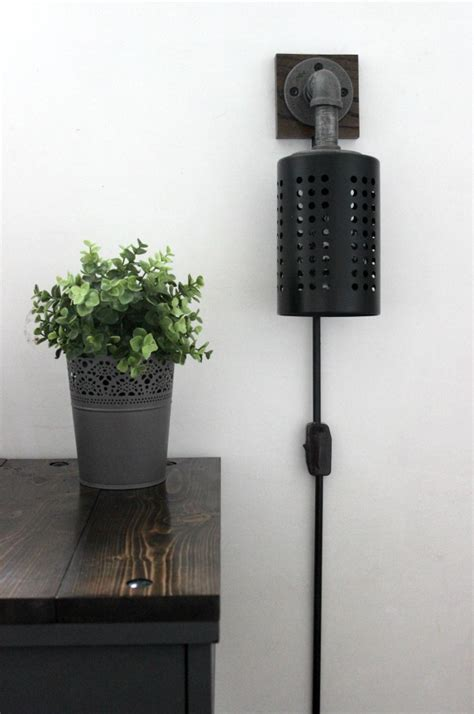 how to make your own diy industrial sconces create