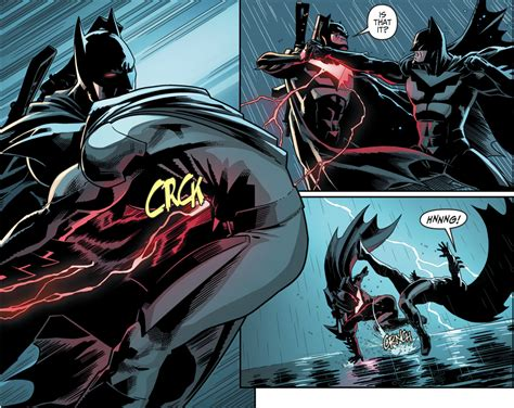 Batman Vs Fake Batman (injustice Ii) Comicnewbies