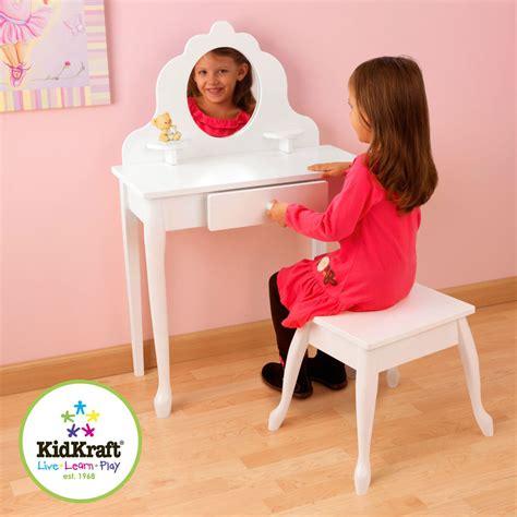 girls white vanity table kidkraft medium white vanity dressing table stool