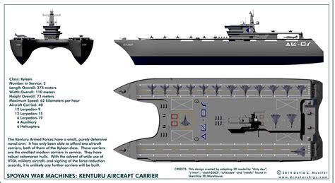 Catamaran Aircraft Carrier Design by Spoyan Aircraft Carrier Kenturu By Dcmstarships Aviation