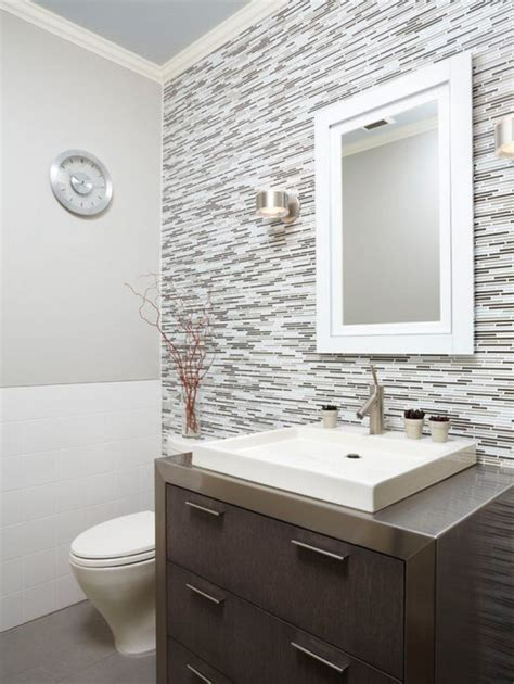 Fliesen Ideen Bad by Half Bathroom Tile Ideas Half Bath Tile Home Design Ideas