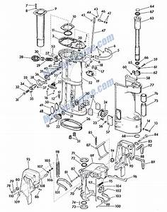 Johnson Lower Unit Group Parts For 1958 35hp Rds