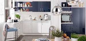 Weisse Hochglanz Küche : blaue k chen kaufen m bel kraft bei m bel kraft online kaufen ~ Frokenaadalensverden.com Haus und Dekorationen