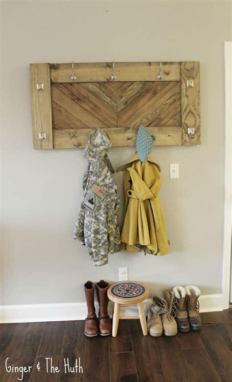 white herringbone wall coat rack diy projects