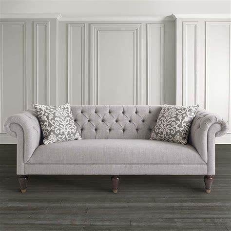 Mid Century Modern Living Room Classic Chesterfield Style Sofa