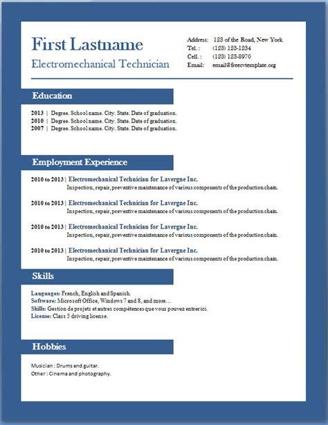 cv templates  word httpwebdesigncom