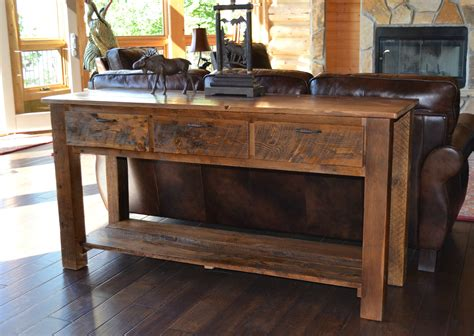 furniture beautiful handmade reclaimed wood sofa table