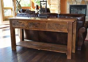 Reclaimed Teton 3-drawer Sofa Table Rustic Furniture