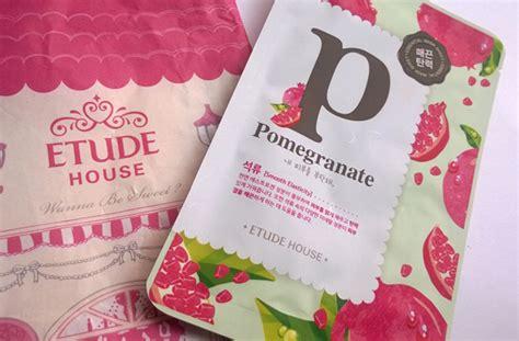 Harga Etude House Alphabet Mask etude house alphabet sheet mask pomegranate review