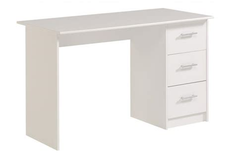 bureau blanc avec tiroir bureau blanc avec 3 tiroirs bureau pas cher