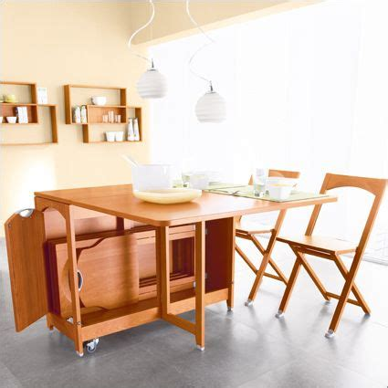 folding kitchen table with chair storage 164 best images about folding dining room tables on 8263