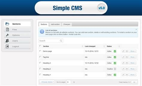 Free Content Management System Simple Cms Content Management System Php Cms Script