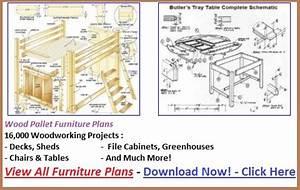Woodwork Pallet Furniture Plans Download PDF Plans
