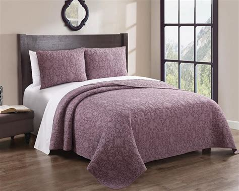 Quilted Coverlet by Geselle Coverlet Bedspread Wrinkle Free Set 100 Cotton
