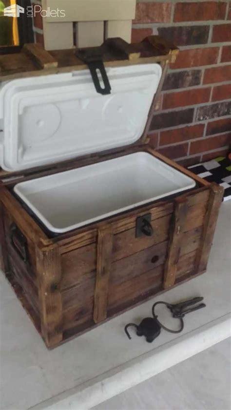 treasure chest cooler  reclaimed pallets  pallets