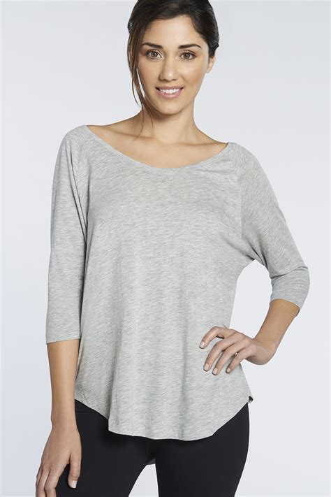 palisades ls tee in heather grey get great deals at