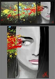 Tableau Triptyque Moderne : tableau d co design contemporain triptyque femme l 39 envie design contemporain tableau design ~ Teatrodelosmanantiales.com Idées de Décoration