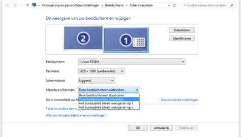 pc de bureau windows 7 8 tips voor het werken met meerdere beeldschermen how to