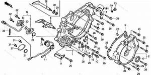 Honda Atv 2002 Oem Parts Diagram For Rear Crankcase Cover