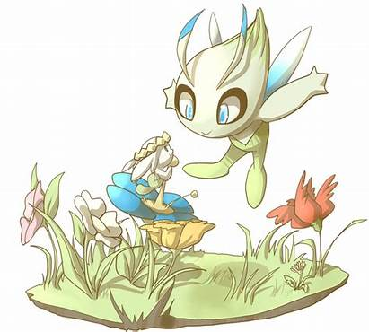 Celebi Skitea Deviantart Pokemon Legendary Drawings Deviant