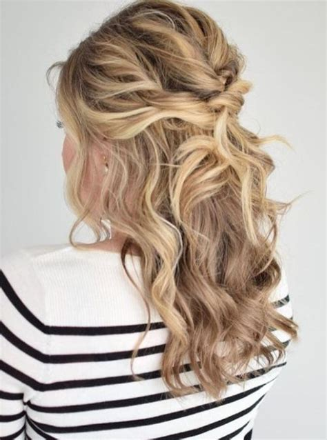 Wavy Half Updo Hairstyles by 75 Cool Hairstyles For For