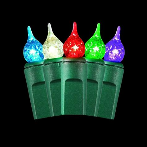 teardrop christmas lights martha stewart living 50 light warm multi color small teardrop light set ty1196 1415 the home