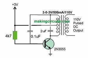 3v To 110  220v Converter Circuit