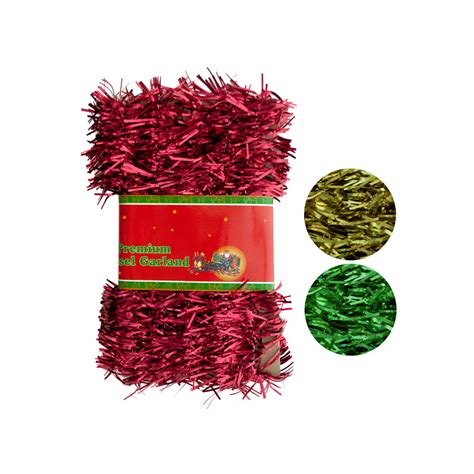 wholesale christmas tinsel garland sku 1882028 dollardays