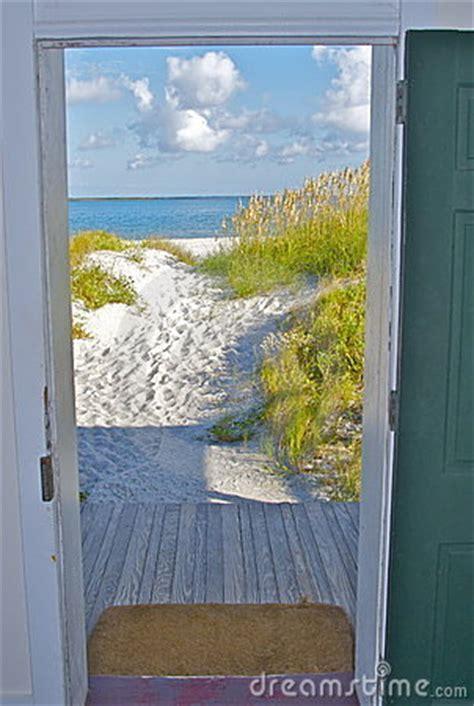 door opening  beach stock  image