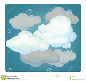 Cartoon Scene With Weather - Cloudy Stock Illustration ...