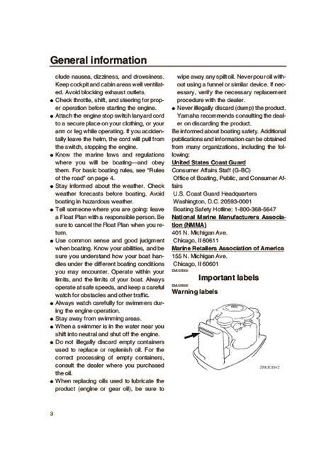 Yamaha Outboard Motor Owner S Manual by 2006 Yamaha Outboard 50 Boat Motor Owners Manual