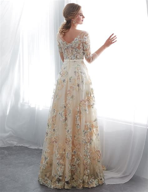 Belle House Long Prom Dresses 2020 Floral Evening Dress ...