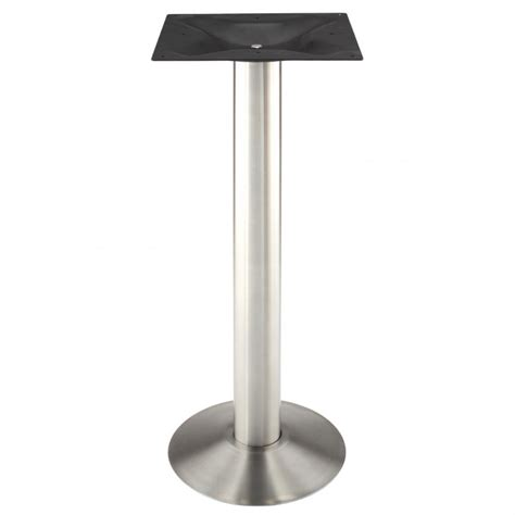 bar height metal table legs roswell bolt down stainless steel table base bar