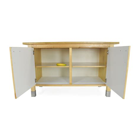 82% Off  Ikea Kitchen Block Cabinet Table  Storage