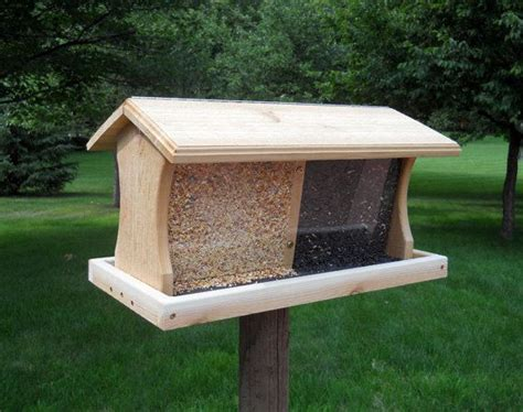 large bird feeders large hopper bird feeder woodworking projects plans