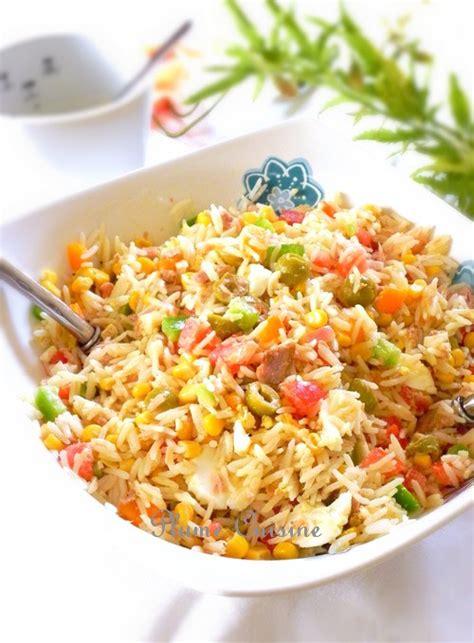 cuisine salade de riz salade de riz classique une plume dans la cuisine