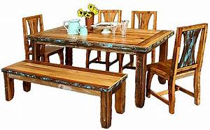 azul barnwood dining 6 pc set the log furniture store With barnwood furniture stores