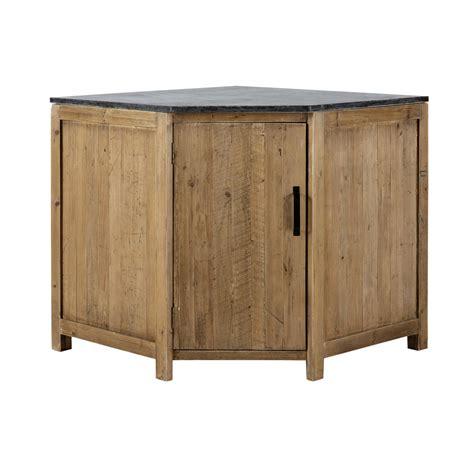 meuble d angle bas pour cuisine meuble bas d 39 angle de cuisine ouverture gauche en bois recyclé l 97 cm pagnol maisons du monde