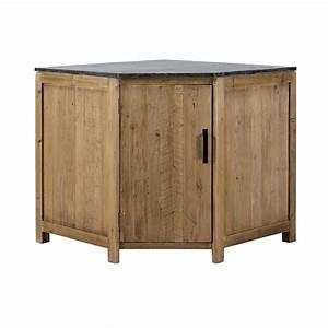 Meuble Bas Bois : meuble bas d 39 angle de cuisine ouverture gauche en bois recycl l 97 cm pagnol maisons du monde ~ Teatrodelosmanantiales.com Idées de Décoration