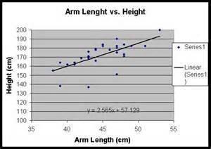 Arm Length vs Height Chart