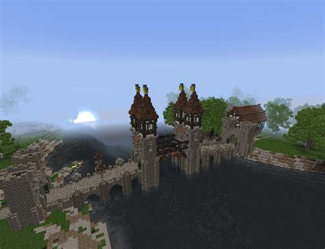 [Minecraft] Medieval Bascule Bridge to Waldeck by