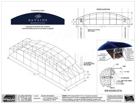 hoffman awning shop drawings awning permit