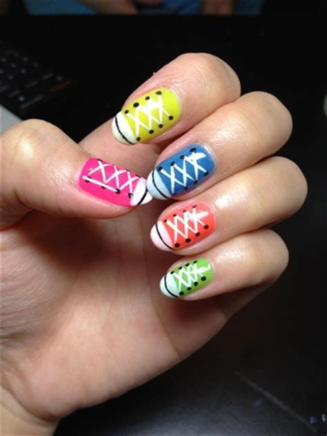 sneaker nails nail art gallery