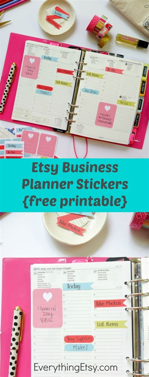 etsy business planner stickers free printable everythingetsy