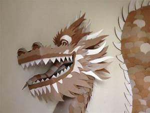 cardboard scottbeaverstudiocom With cardboard dragon template