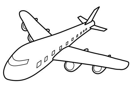 kostenlose malvorlage transportmittel grosses flugzeug zum